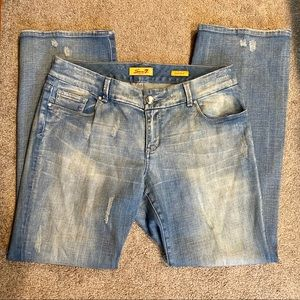 Seven7 Distressed Bootcut Jeans